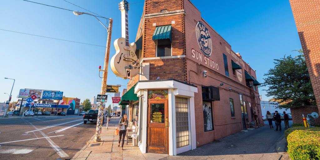 Sun Studio in Memphis where greats like Elvis Presley recorded their music
