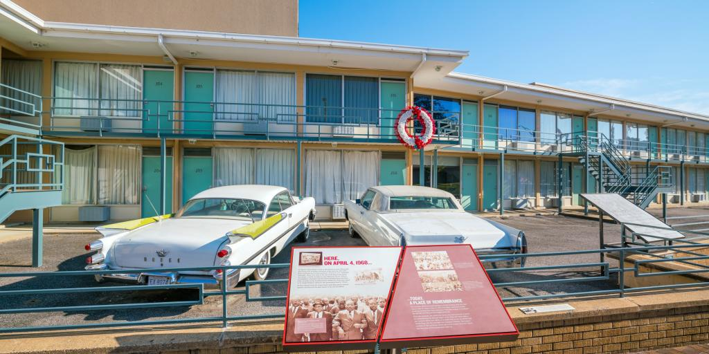 National Civil Rights Museum - the balcony where Martin Luther King Jr. was assasinated