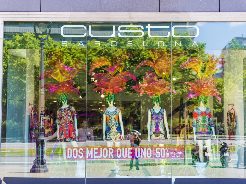 Custo shop located on L'illa Diagonal in Barcelona