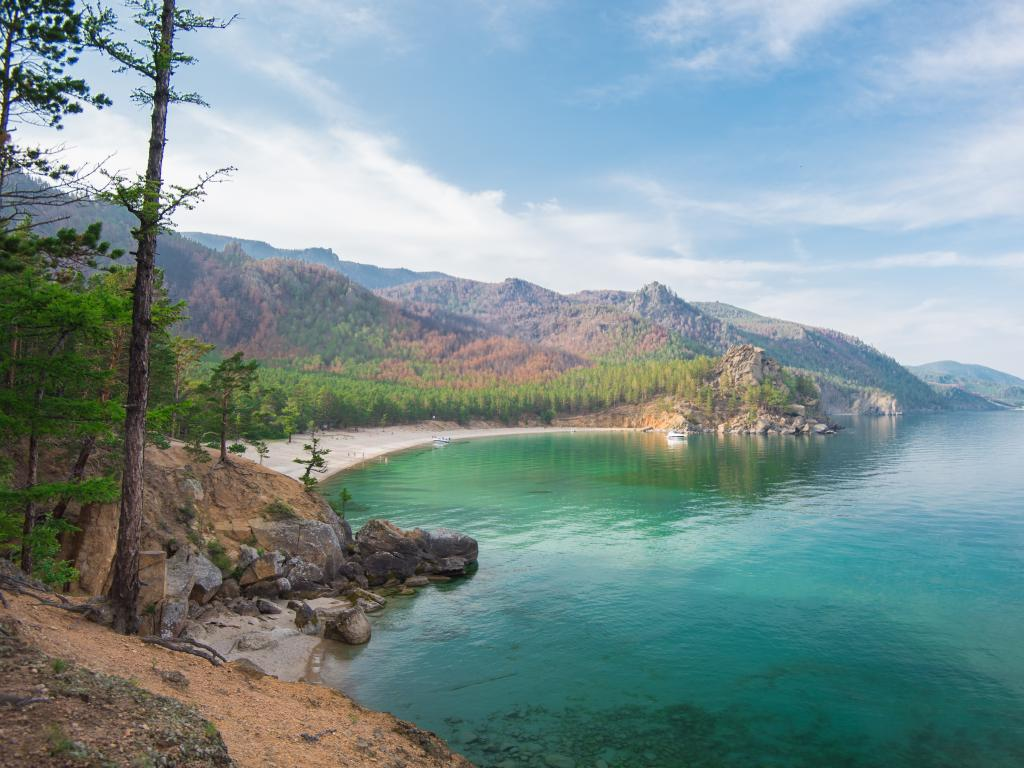 Grandma's Bay on Lake Baikal is right along the Trans-Siberian Highway route across Russia.