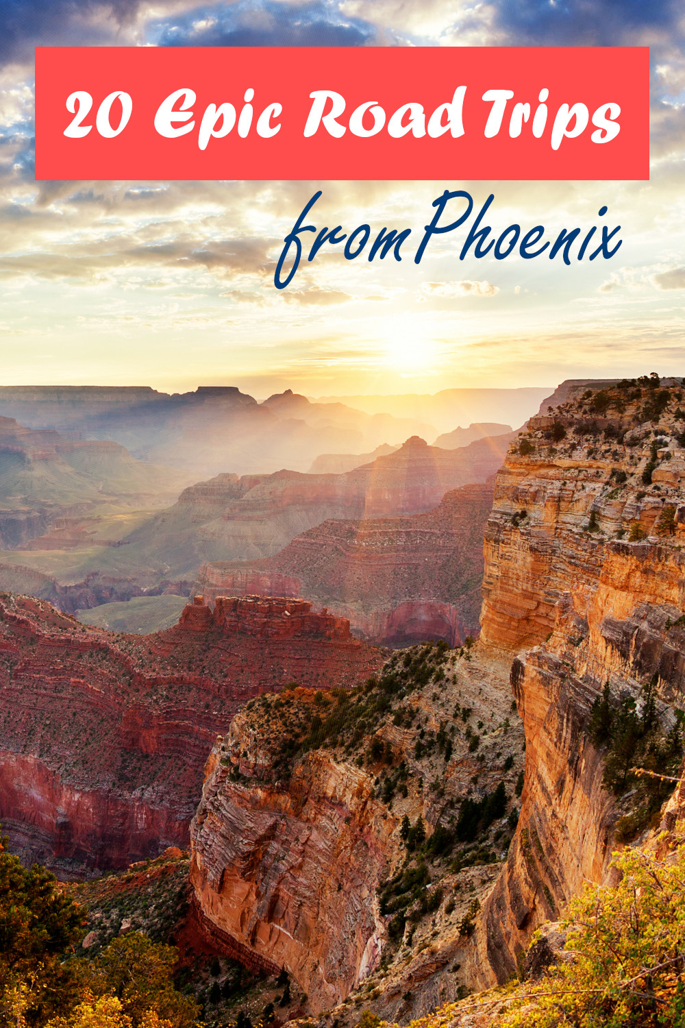 20 Epic road trips from Phoenix across Arizona, California, Nevada, Utah and New Mexico from desert drives to city breaks and amazing roads.