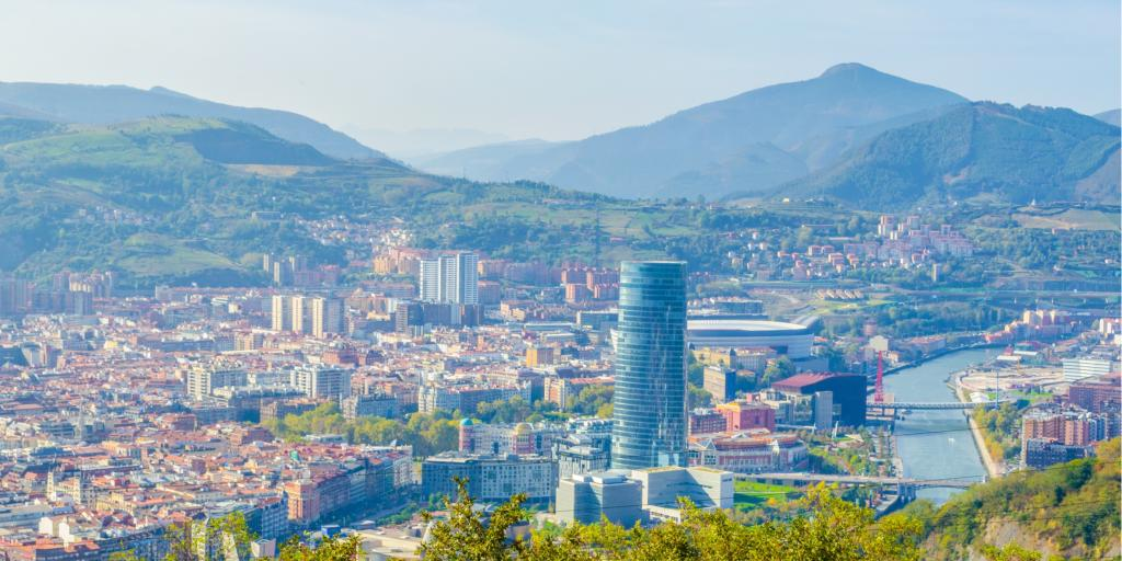 Aerial view of Bilbao from the Artxanda Funicular