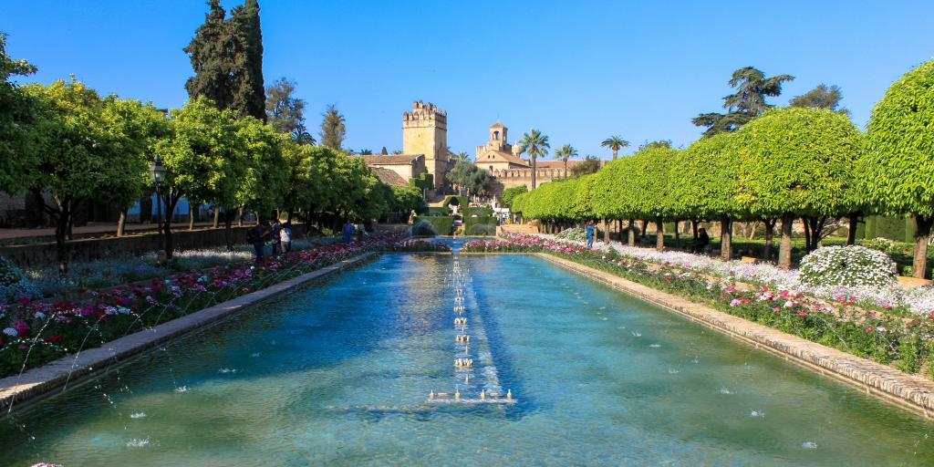 The fountain at the Alcazar de los Reyes Cristianos, Cordoba