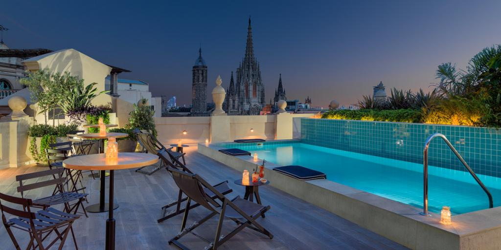 H10 Madison hotel rooftop swimming pool - a perfect hub for exploring Barcelona