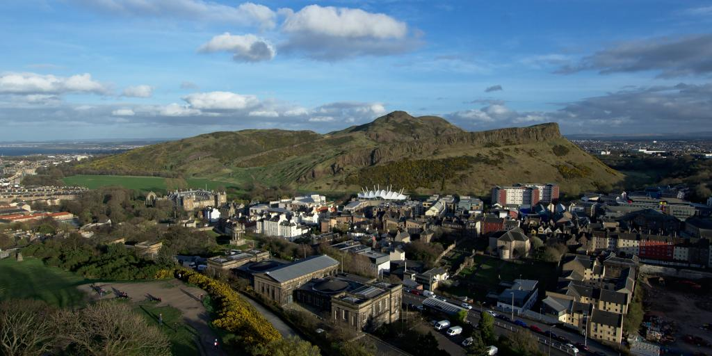Arthur's Seat is situated in the heart of Edinburgh and offers fantastic views from the top