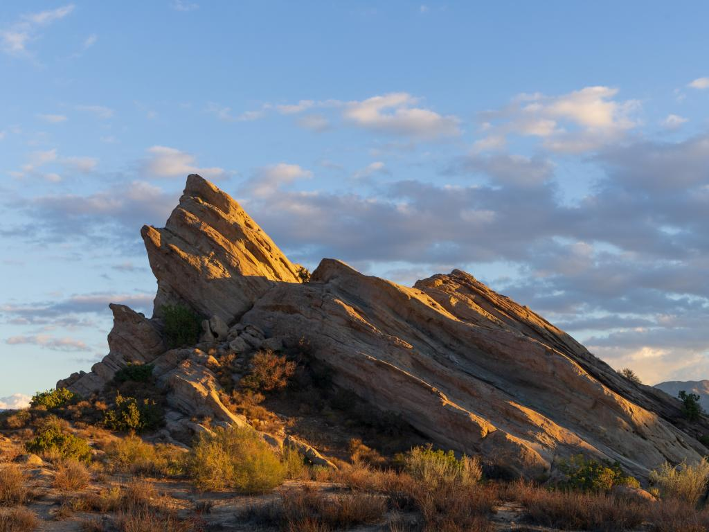 Vasquez Rocks Natural Area Park in the Sierra Pelona Mountains in Southern California.