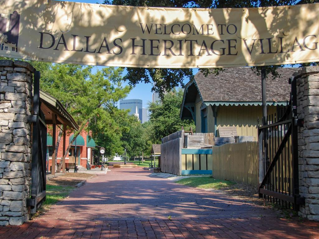 Entrance to the Dallas Heritage Village at the Old City Park