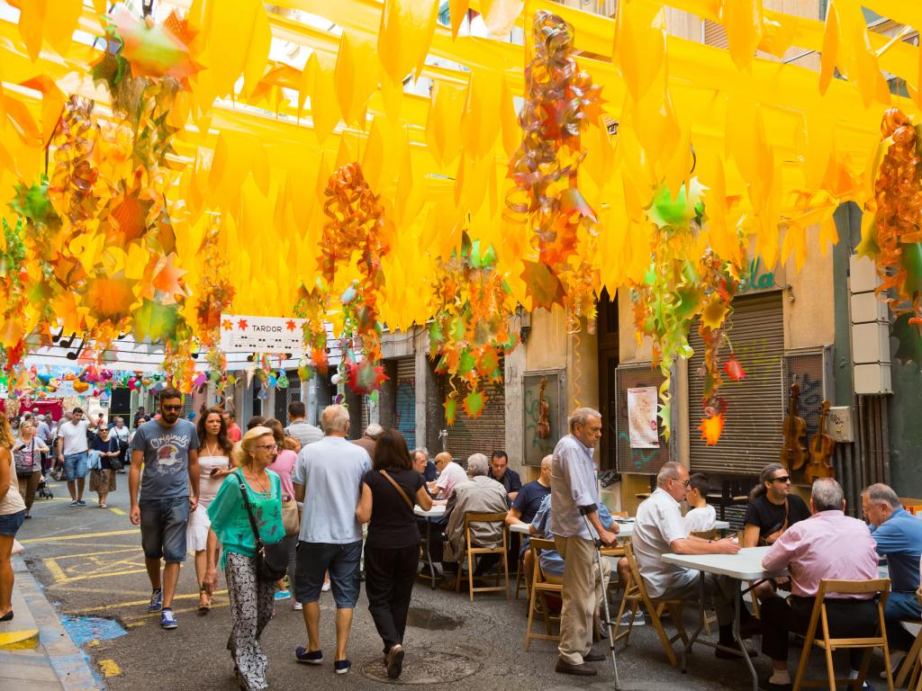 Major de Gracia Festival in Barcelona's Gracia district