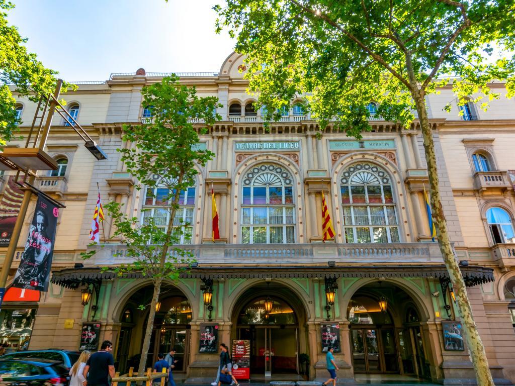 Gran Teatre del Liceu on La Rambla in Barcelona