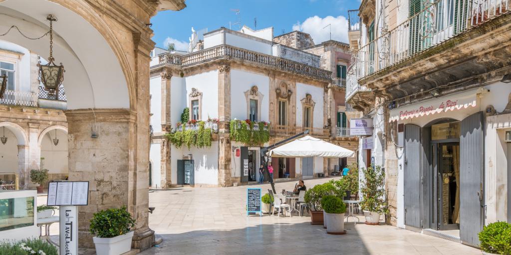 A street in Martina Franca, Puglia