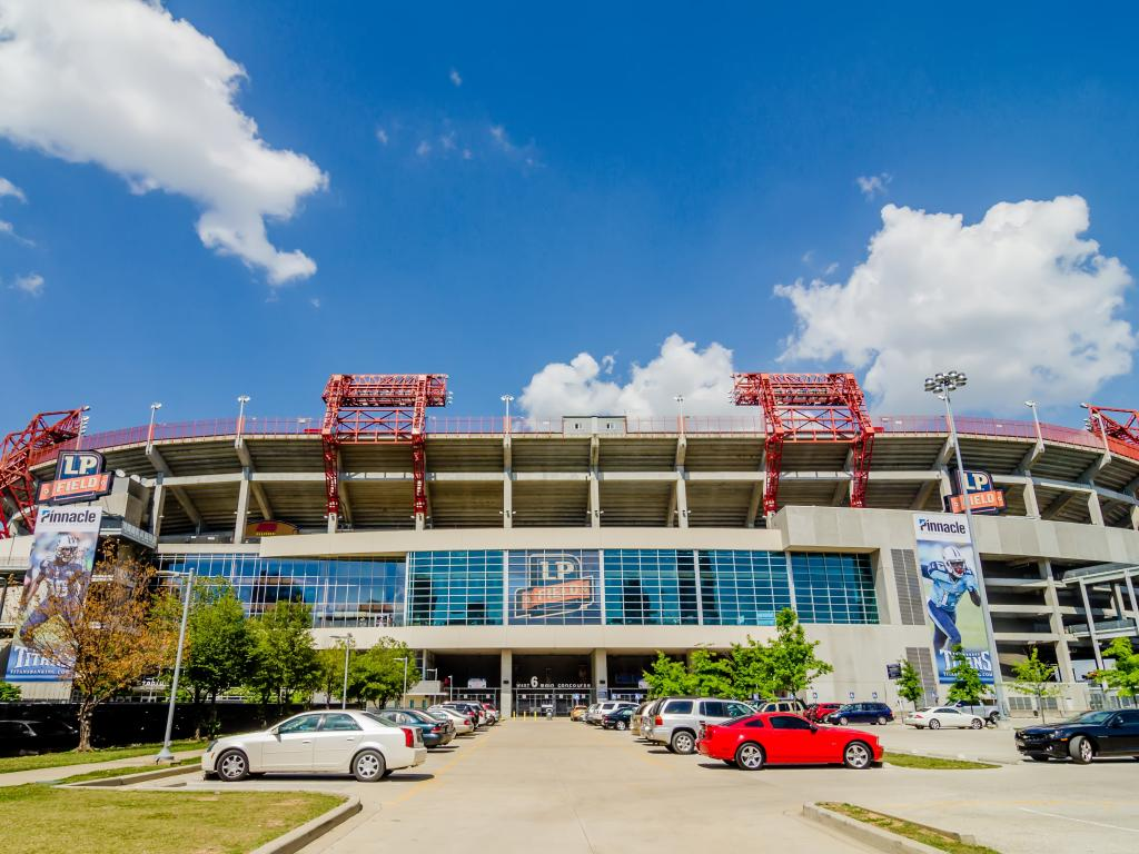 Nissan Stadium in Nashville - home of the NFL's Tennessee Titans
