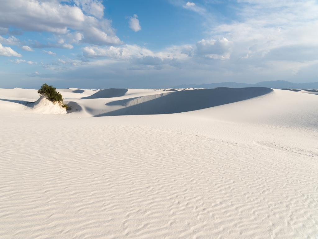 The white dunes of the White Sands National Monument in Alamogordo, New Mexico