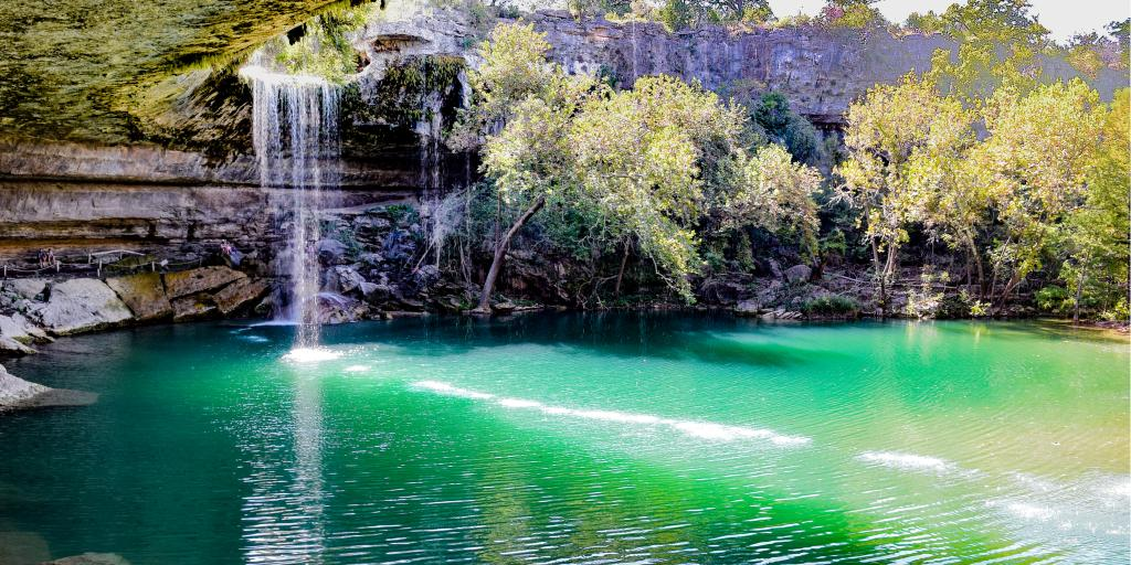 Ground level shot of Hamilton Pool, Texas
