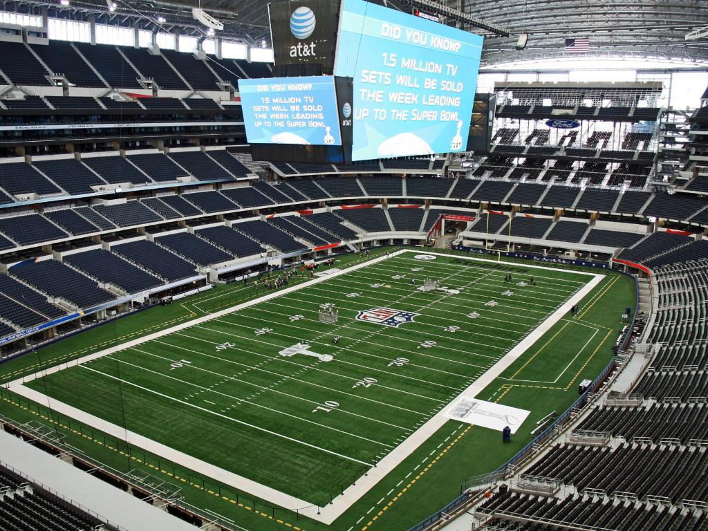 Inside the AT&T Stadium - home of the Dallas Cowboys in Arlington, Texas