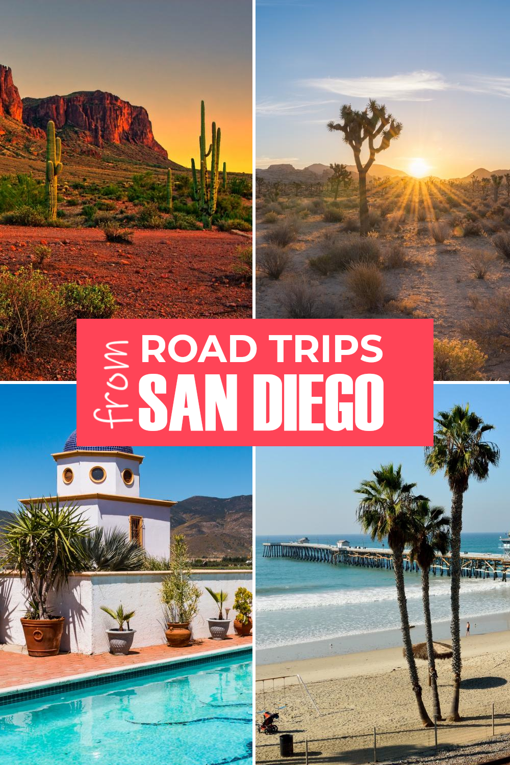 Best road trips from San Diego - from short drives in Southern California to trips to National Parks and epic journeys.