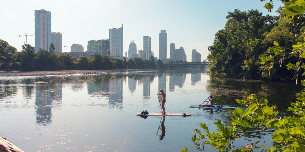 SUP on Lady Bird Lake, Austin