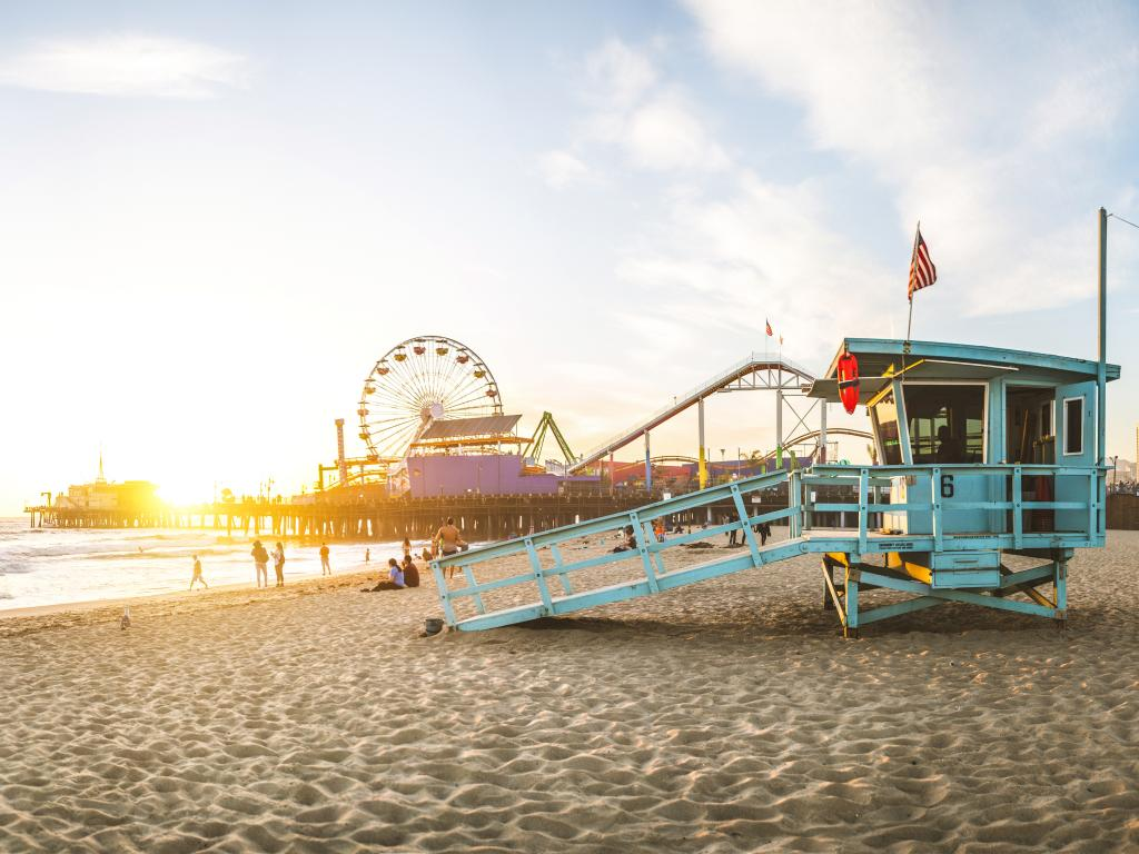 Santa Monica Pier is one of the many amazing places to see in Los Angeles on the way from San Diego to Santa Barbara.