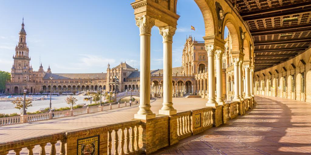 Plaza de Espana in Seville, Spain - a perfect destination for a Spain road trip