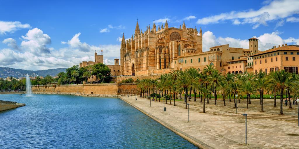 La Seu gothic medieval cathedral of Palma de Mallorca in Spain