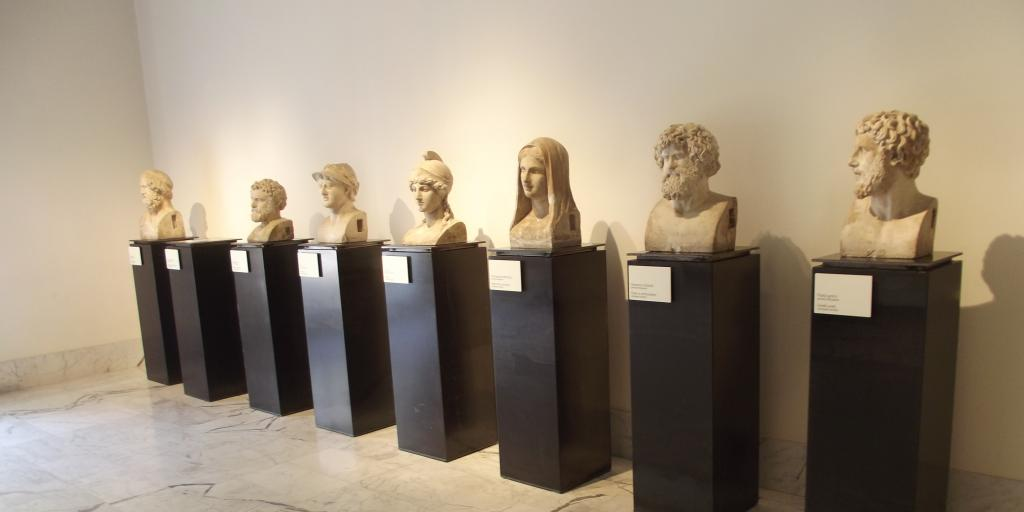 Ancient artifacts on display at the Archaeological Museum in Naples